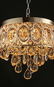 MAX40W Traditionnel/Classique Cristal / Designers Doré Métal LustreSalle de séjour / Chambre à coucher / Salle à manger / Cuisine /