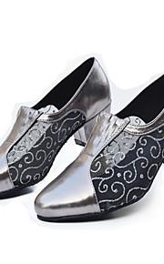 Sapatos de Dança(Preto / Prateado / Cinza) -Feminino-Não Personalizável-Latina / Jazz / Moderna / Salsa / Samba / Sapatos de Swing