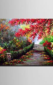 미니 사이즈 전자 홈 유화 현대 단풍 나무 숲 흔적 순수 손 틀 장식 그림을 그립니다