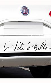 """30 * 6cm french stickers """"het leven is zo mooi"""" persoonlijkheid autostickers (1st)"""