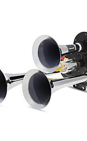 triple trompet luchthoorns 150.2db zeer luid zwart + zilveren auto van vrachtwagen