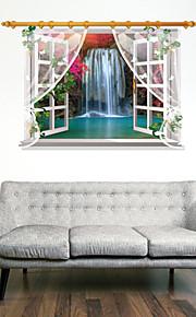 3D Wall Stickers Wall Decals, Beautiful Waterfall Landscape PVC Wall Sticker