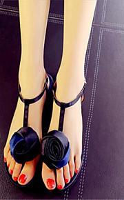 Синий / Красный-Женская обувь-Для прогулок / На каждый день-Дерматин-На плоской подошве-Удобная обувь-Сандалии