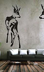 Dyr / Romantik / Fashion / abstrakt / fantasi Wall Stickers Fly vægklistermærker,PVC M:42*65cm+39*109cm / L:54*80cm+50*143cm