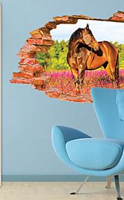 Животные / ботанический / 3D Наклейки 3D наклейки,PVC 60*90CM