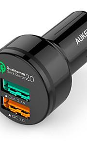 Aukey snel opladen autolader cc-T1 Qualcomm qc2.0 auto te berekenen