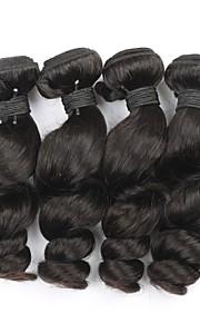 """4kpl paljon 8 """"-30"""" Brasilian neitsyt hiukset löysä aalto luonnon musta hiuksista sotkeutumaton hiusten pidennykset"""
