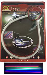 2 stk emitting tube ledet myk lampe auto øyenbryn høydepunkt ledet lampe lyser artikkel 30 cm
