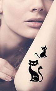 Fashion Temporary Tattoos Sexy Body Art Waterproof Tattoo Stickers Cats 5PCS