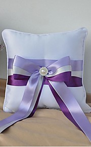 Ring Pillow Satin Beach Theme / Garden Theme / Vegas Theme / Asian Theme / Classic ThemeWithRibbons / Bow / Faux Pearl