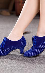 Sapatos de Dança(Azul / Prateado / Outro) -Feminino-Não Personalizável-Dança do Ventre / Latina / Tênis de Dança / Moderna / Salsa /