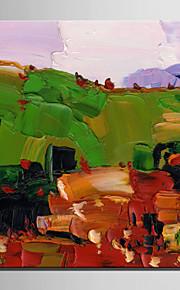 미니 사이즈 전자 홈 유화 현대 산의 경치 순수 손 틀 장식 그림을 그립니다