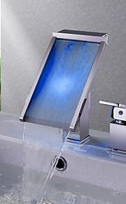 3-Loch-Armatur Einhand Ein Loch in Chrom Waschbecken Wasserhahn