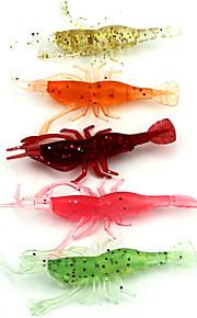 """Señuelos blandos / Vinilos / Cangrejos / Camarón 50pcs/set pcs,3.6g/pc g/1/8 Onza,80mm/pc mm/3-1/4"""" pulgada Colores Aleatorios Plástico"""
