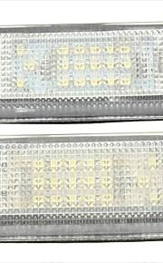 R50 Mini cooper s 2pcs BM-W LED de alumbrado de la placa de licencia 14w 12v llevado con decodificador llevada especial