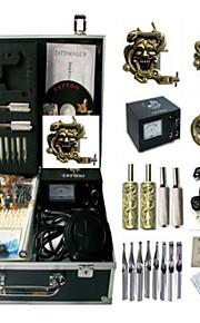 Basekey Tattoo Kit K0163 3Guns Machine With Power Supply Grips Cleaning Brush Needles