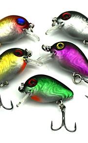 "Pececillo 5 pcs pcs,1.62g/pc g/1/18 Onza,3cm mm/1-1/4"" pulgada Colores Aleatorios Plástico Pesca de baitcasting"