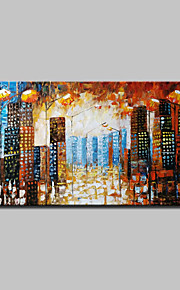 Lager Handmade City Landscape Oil Painting On Canvas Wall Paintings For Living Room Home Decor Whit Frame