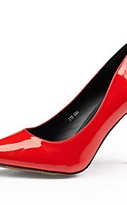 Chaussures Femme-Mariage / Habillé / Soirée & Evénement-Noir / Rouge / Blanc-Talon Aiguille-Talons / Bout Pointu-Talons-Cuir
