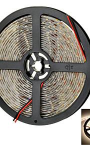 Marsing vanntett 72w 5400lm 300 * smd 5630 førte varmt hvitt lys stripe m / forsterker (12v / 5m)