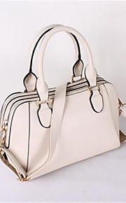 Women PU Shell Tote-White / Pink / Blue / Red