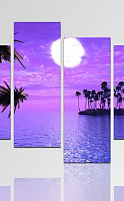 Abstracto / Arquitetura / Fotografia / Moderno / Romântico / Fantasia / Lazer / Paisagem Impressão em tela 4 Painéis Pronto para pendurar,
