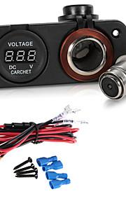 carchet bil motorcykel førte digitale display voltmeter meter