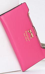 ZX  Solid Women Checkbook Wallet Card & ID Holder Clutch