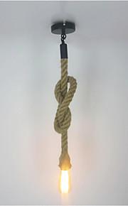 Creative hemp rope Pendant Lights, Vintage 1 Light DIY Art Dining Room the cafe bar counter light Fixture Long 200CM