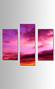 Landskap Canvastryck Merän fem paneler Redo att hänga,vilken form som helst