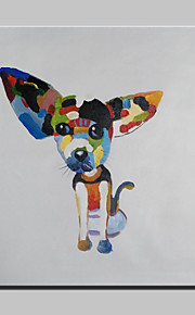 Handmade Modern Cartoon Dog Animal Dog Oil Painting On Canvas For Living Room Home Decor Wall Paintings Whit Frame