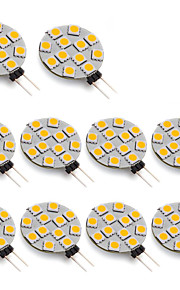g4 1.5W 5050 SMD 12 LED 70 lm warm wit LED-spot (10st, DC 12V)