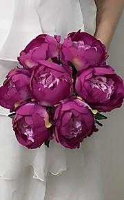 Bouquets(Jaune / Fuchsia / Rouge / Blanc / Beige / Pourpre,Satin)Pivoines