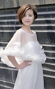 Wedding Tulle Capelets Sleeveless Women's Wrap