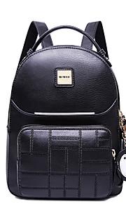 HOWRU® Women 's PU Backpack/Tote Bag/Leisure bag/Travel Bag-Black/Pink