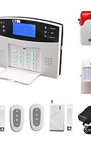 en espagnol système d'alarme sans fil GSM français voix lcd avec détecteur de porte pir sirène sms appel alarme alarma maison de sécurité