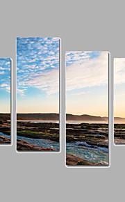 Paisagem Impressão em tela 4 Painéis Pronto para pendurar,qualquer Forma