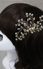 Bride's Flower Shape Crystal Forehead Wedding Accessories  Hair Pin 1 piece