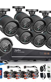 sannce® 720p ahd 8-kanaals CCTV opname dvr zwarte kogel camera beveiliging thuis surveillance camera systeem 1TB hdd