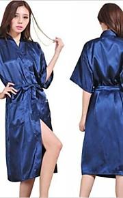 メートルの女性のシルクサテンのパジャマランジェリーパジャマの着物ガウンの寝間着長いローブ