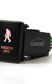 carchet toyota geleid duwen schakelaar met connector wire kit- laser sasquatch lichten symbool -red