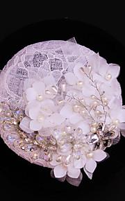 Women's Lace / Rhinestone / Imitation Pearl / Flax Headpiece-Wedding / Special Occasion / Outdoor Fascinators 1 Piece
