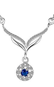 Halskette Anhängerketten Schmuck Silber Krystall Hochzeit 1 Paar Geschenk