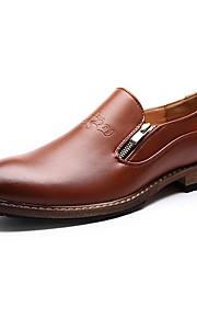 Chaussures Hommes Mariage / Bureau & Travail / Habillé / Décontracté / Soirée & Evénement Noir / Marron Cuir Mocassins