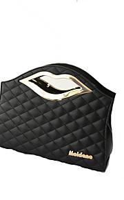 Women PU Baguette Shoulder Bag / Tote-White / Black