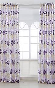 Deux Panneaux Rustique Floral / Botanique Comme image Salle de séjour Mélange Poly/Coton Panneau Rideaux rideaux