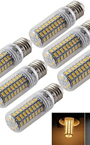 5W E14 / E26/E27 Ampoules Maïs LED T 72 SMD 5730 300 lm Blanc Chaud / Blanc Froid Décorative AC 100-240 / AC 110-130 V 6 pièces