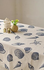 oceanische patroon tafelkleed mode hotsale hoogwaardige katoen vierkante salontafel hoes van textiel handdoek