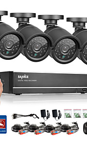 sannce® 4ch ahd dvr 4 stuks 720p ir weerbestendig outdoor cctv camera binnenlandse veiligheid surveillance kits CCTV-systeem