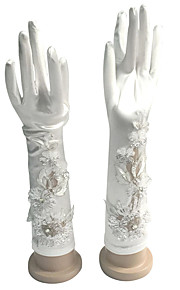 До локтя С открытыми подушечками пальцев Перчатка Хлопок Свадебные перчатки / Вечерние перчатки
